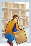 Ανυψωτικό κιβώτιο νεαρών άνδρων, χρωματισμένο σχέδιο Στοκ φωτογραφία με δικαίωμα ελεύθερης χρήσης