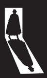 Ανυψώστε τη σκιά σκαριφιστήρων στην πόρτα με γρύλλο Στοκ Εικόνες