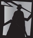 Ανυψώστε τη σκιά σκαριφιστήρων στον καθρέφτη με γρύλλο Στοκ Φωτογραφία