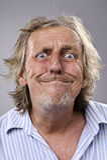 Ανόητο αστείο πρόσωπο Στοκ εικόνα με δικαίωμα ελεύθερης χρήσης