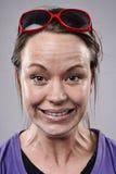 Ανόητο αστείο πρόσωπο Στοκ Εικόνες