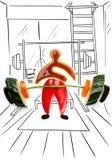 Ανύψωση ενός barbell Στοκ εικόνα με δικαίωμα ελεύθερης χρήσης