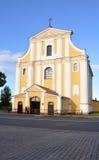 Ανύψωση της διαγώνιας εκκλησίας στην πόλη Lida belatedness Στοκ Εικόνες