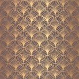 Ανώμαλες του Art Deco κλίμακες υποβάθρου σχεδίων χρυσές ελεύθερη απεικόνιση δικαιώματος