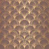 Ανώμαλες του Art Deco κλίμακες υποβάθρου σχεδίων χρυσές διανυσματική απεικόνιση