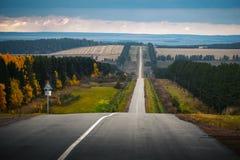 Ανώμαλος δρόμος φθινοπώρου Στοκ φωτογραφία με δικαίωμα ελεύθερης χρήσης