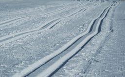 Ανώμαλη να κάνει σκι διαδρομή Στοκ φωτογραφία με δικαίωμα ελεύθερης χρήσης