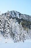 Ανώμαλο να κάνει σκι στην κοιλάδα Marcadau Στοκ εικόνα με δικαίωμα ελεύθερης χρήσης