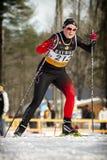 Ανώμαλο να κάνει σκι Στοκ Εικόνες