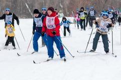 Ανώμαλο να κάνει σκι Στοκ Φωτογραφία