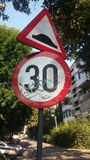 Ανώμαλο τέντωμα του δρόμου Στοκ εικόνα με δικαίωμα ελεύθερης χρήσης