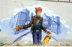 Ανώνυμη εικόνα γκράφιτι Στοκ εικόνες με δικαίωμα ελεύθερης χρήσης