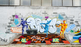 Ανώνυμη εικόνα γκράφιτι Στοκ εικόνα με δικαίωμα ελεύθερης χρήσης