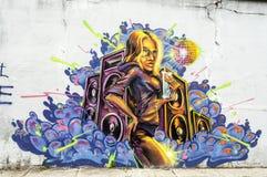 Ανώνυμη εικόνα γκράφιτι Στοκ Εικόνες
