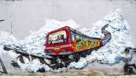 Ανώνυμη εικόνα γκράφιτι Στοκ Φωτογραφία