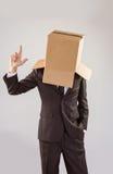 Ανώνυμος επιχειρηματίας που δείχνει επάνω με το δάχτυλο Στοκ Φωτογραφία