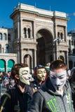 Ανώνυμος στο Μιλάνο #2 Στοκ φωτογραφίες με δικαίωμα ελεύθερης χρήσης