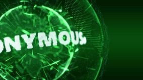 Ανώνυμο πειρακτήριο εισαγωγής παγκόσμιων ειδήσεων πράσινο φιλμ μικρού μήκους