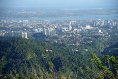 Ανώτατη επιφυλακή πέρα από την πόλη του Κεμπού, Κεμπού, Φιλιππίνες Στοκ Εικόνες