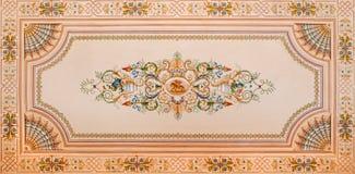 Ανώτατη νωπογραφία από τη βιβλιοθήκη στο παλάτι Άγιος Anton Στοκ Εικόνες