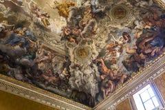 Ανώτατη νωπογραφία σε Palazzo Barberini, Ρώμη, Ιταλία Στοκ εικόνα με δικαίωμα ελεύθερης χρήσης