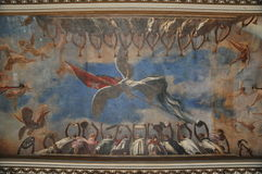Ανώτατη τοιχογραφία, Museo de Λα Revolucion, Αβάνα Στοκ Εικόνες