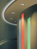 Ανώτατος φωτισμός που χρησιμοποιεί Downlight και το RGB χρώμα των οδηγήσεων Στοκ φωτογραφίες με δικαίωμα ελεύθερης χρήσης