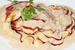 Ανώτατο γεύμα κοτόπουλου Στοκ φωτογραφία με δικαίωμα ελεύθερης χρήσης
