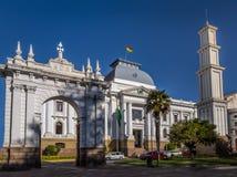 Ανώτατο δικαστήριο του κτηρίου της Βολιβίας - sucre, Βολιβία Στοκ εικόνα με δικαίωμα ελεύθερης χρήσης