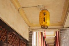 Ανώτατο κινεζικό φανάρι σε έναν κινεζικό ναό Στοκ Εικόνες