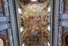Ανώτατο όριο εκκλησιών του Ignazio Sant frescoe, Ρώμη, Ιταλία Στοκ Εικόνα