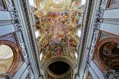 Ανώτατο όριο εκκλησιών του Ignazio Sant frescoe, Ρώμη, Ιταλία Στοκ φωτογραφίες με δικαίωμα ελεύθερης χρήσης