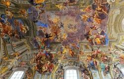 Ανώτατο όριο εκκλησιών του Ignazio Sant frescoe, Ρώμη, Ιταλία Στοκ Φωτογραφία