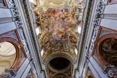 Ανώτατο όριο εκκλησιών του Ignazio Sant frescoe, Ρώμη, Ιταλία Στοκ Εικόνες
