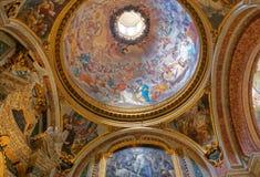 Ανώτατο όριο εκκλησιών του Ignazio Sant frescoe, Ρώμη, Ιταλία Στοκ εικόνα με δικαίωμα ελεύθερης χρήσης