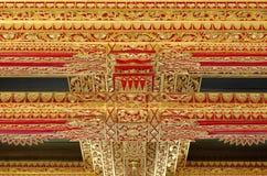 Ανώτατο όριο με την όμορφη διακόσμηση στο παλάτι σουλτανάτων Yogyakarta Στοκ Εικόνες