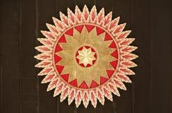 Ανώτατο όριο με την όμορφη διακόσμηση στο παλάτι σουλτανάτων Yogyakarta Στοκ εικόνα με δικαίωμα ελεύθερης χρήσης