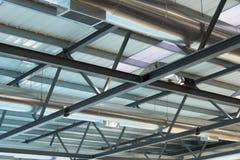 Ανώτατο όριο, στέγη, plafond, δομή, κατασκευή, σύνθεση, μόνιμο προσωπικό, σενάριο, όγκος, αρχιτεκτονική, architectonics, bui Στοκ Φωτογραφία