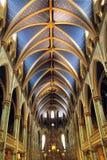 Ανώτατο όριο της βασιλικής της Notre Dame στο Μόντρεαλ Καναδάς Στοκ Φωτογραφίες