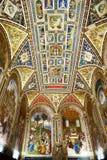 Ανώτατο όριο της βιβλιοθήκης Piccolomini στο Di Σιένα, Ιταλία Duomo Στοκ Εικόνα
