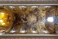 Ανώτατο όριο της εκκλησίας Gesu, Ρώμη, Ιταλία στοκ εικόνες με δικαίωμα ελεύθερης χρήσης