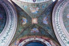 Ανώτατο όριο του arcade στη βίλα Giulia, πόλη της Ρώμης Στοκ Εικόνες
