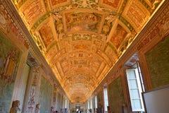 Ανώτατο όριο δωματίων χαρτών, Βατικανό Ιταλία Στοκ Φωτογραφίες