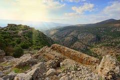Ανώτερα βουνά Galilee ο Βορράς του Ισραήλ Στοκ φωτογραφία με δικαίωμα ελεύθερης χρήσης