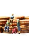 Ανώτερα νομίσματα Α ανθρώπων Στοκ Εικόνες