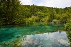 Ανώτερες λίμνες Plitvice, Κροατία Στοκ Εικόνες