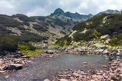 Ανώτερη λίμνη Muratovo, βουνό Pirin Στοκ φωτογραφίες με δικαίωμα ελεύθερης χρήσης