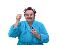 Ανώτερη γυναίκα makeup Στοκ Εικόνες