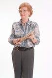 Ανώτερη κυρία με το βιβλίο Στοκ φωτογραφίες με δικαίωμα ελεύθερης χρήσης