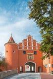 Ανώτερη πύλη, μεσαιωνική πύλη πόλεων σε Neuburg Στοκ εικόνα με δικαίωμα ελεύθερης χρήσης